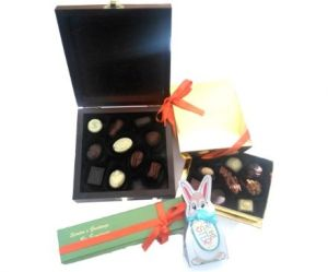 chocolates in tin box